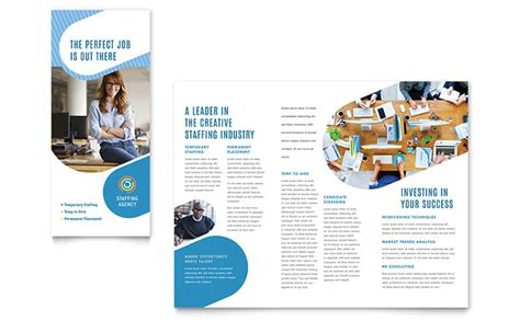 Career Brochure Template by Employment Agency Tri Fold Brochure Template Design