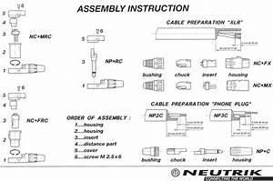 Neutrik Audio Connectors Exploded Parts  Wiring Diagram  Free Data Sheet By Gb Audio
