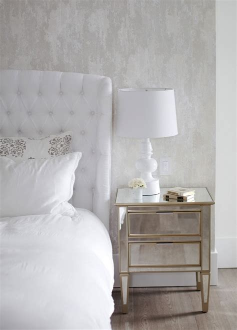 white mirrored nightstand mirror nightstands transitional bedroom the cross