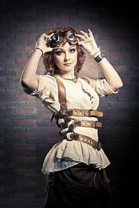 Steampunk Girl With Goggles Stock Photo Image 44816228