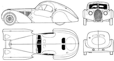 Bugatti Veyron Blueprint by 1936 Bugatti Type 57 Sc Atlantic Coupe V2 Blueprints Free