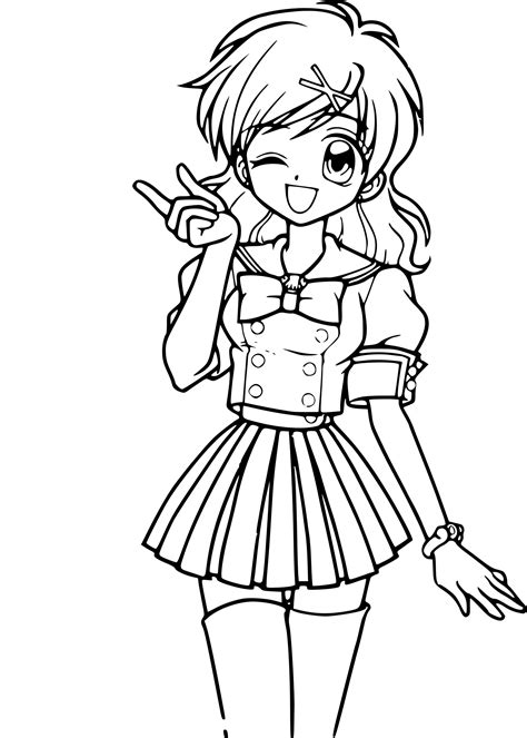 If you do not find the exact resolution you are looking for, then go for. Coloriage Belle fille manga à imprimer sur COLORIAGES .info