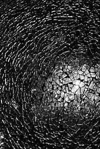 Cracked Glass Texture Photograph by Teerasak Chinnasot