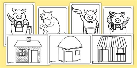pigs colouring sheets