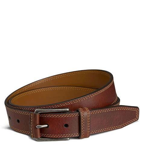trask mens gallatin belt dillards   bison leather belt leather