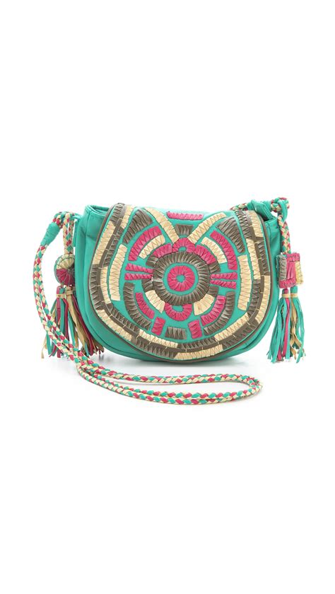antik batik sun small bag  multicolor aqua lyst