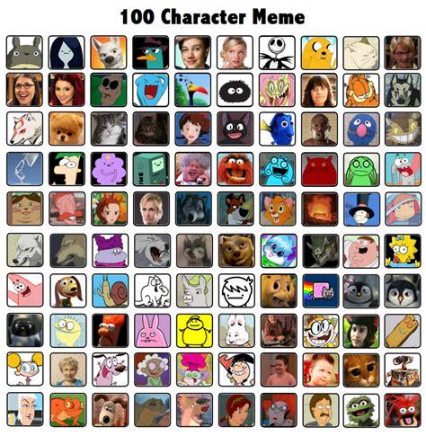 Character Memes - 100 character meme by mustluvwolves on deviantart