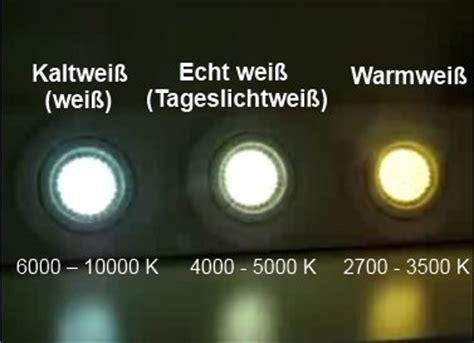 Lichtfarben der Bioledex LED Leuchtmittel   LED Lampen