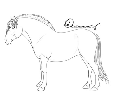 Fjord Drawing by Norwegian Fjord Horse Coloring Pages Sketch Coloring Page