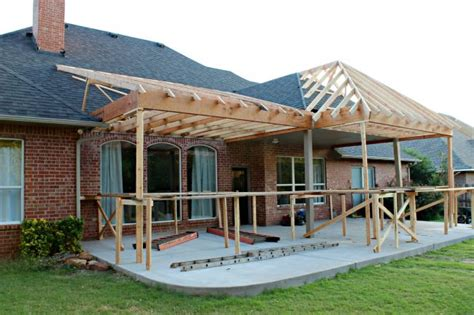 patio project framing and roof dimples and tangles