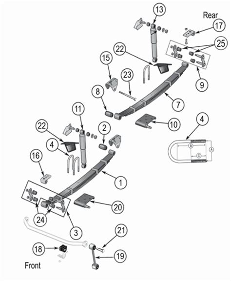 Jeep Exploded Diagram jeep cj suspension parts exploded view diagram years 1976