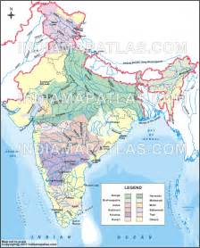 India Map with Rivers