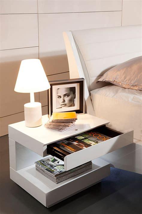 modrest esso modern white glossy nightstand nightstands