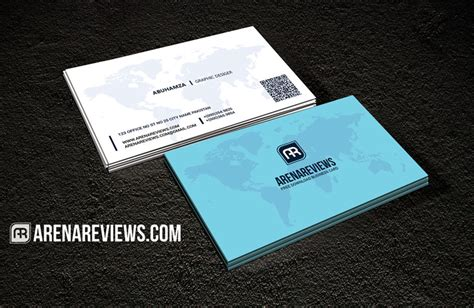 world map professional business card