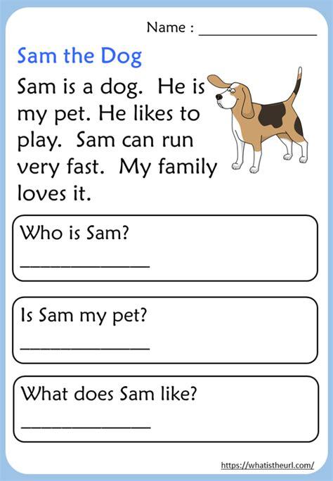 kindergarten reading comprehension passages  home