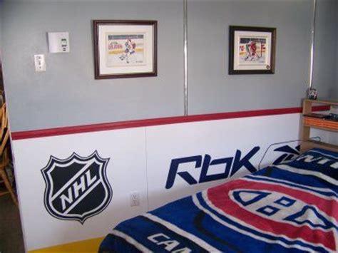 d馗oration de chambre déco chambre hockey
