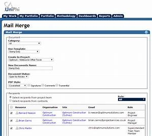 uniphi 2016 With pdf document mail merge