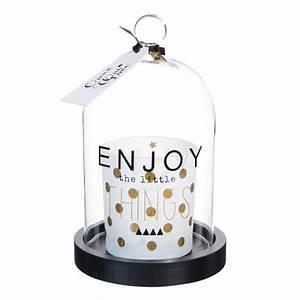 Cloche En Verre Maison Du Monde : bougie sous cloche en verre h 18 cm enjoy maisons du monde ~ Melissatoandfro.com Idées de Décoration