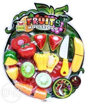 jual fruits house set mainan anak buah sayur potong di lapak riyantine riyantine