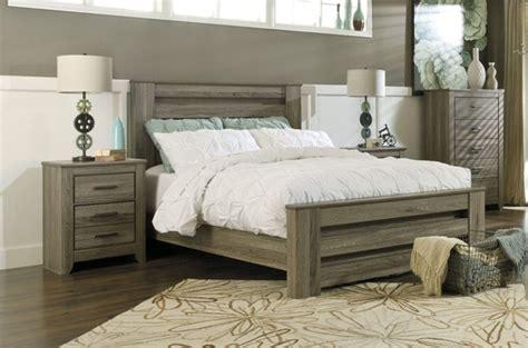 ashley furniture zelen pc bedroom set  king panel bed