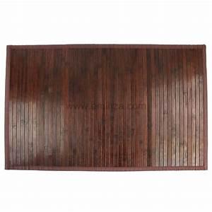tapis de bain lattes bambou chocolat tapis salle de bain With tapis salle de bain bambou