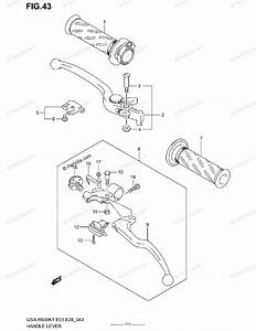 Suzuki Motorcycle 2002 Oem Parts Diagram For Handle Lever