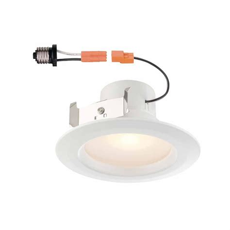 commercial electric 4 in white recessed led trim with 90