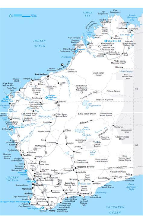 south west australia map