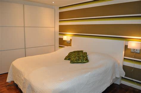 eriksens design sovrummet fick en groen fondvaegg