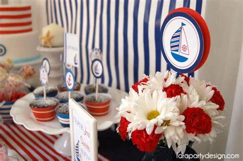 Kara's Party Ideas Nautical Sailor Party + Navy Party