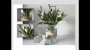 Frühlingsdeko Im Glas : diy fr hlingsdeko osterdeko glas in glas tulpen und magnolie in harmonie deko jana youtube ~ Orissabook.com Haus und Dekorationen