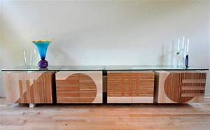 Credenza with Glass Top James Wurzbach : Custom and Fine
