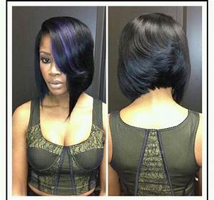 precison mid bob feathered back asymmetric front purple ...