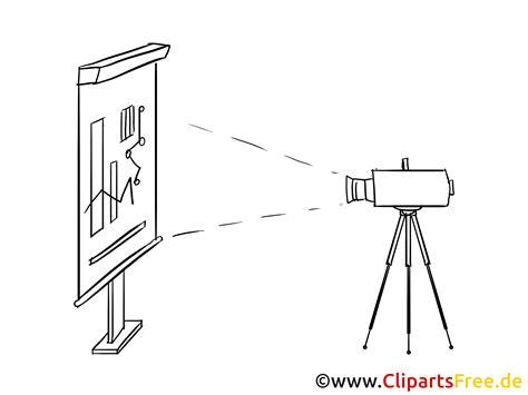 leinwand und beamer clipart bild zeichnung cartoon