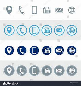 Vector Contact Information Icons Stock Vector 631037279 ...