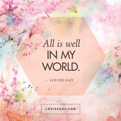 world louise hay quote inspiration