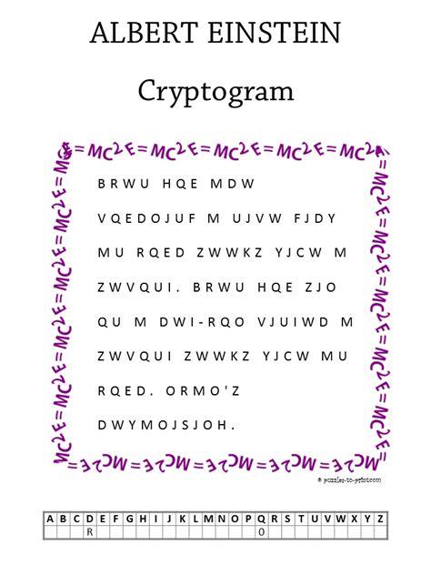 albert einstein cryptogram