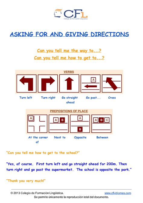 Asking Giving Directions Reading Texts Shumin 39 S Space