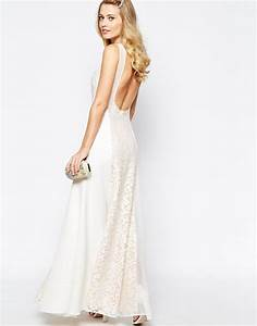 lyst jarlo beatrix lace panel maxi dress with low back With ikks robes