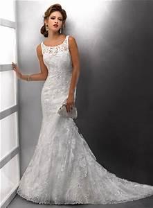 Gorgeous mermaid straps lace wedding dress with sequins for Lace wedding dress with straps