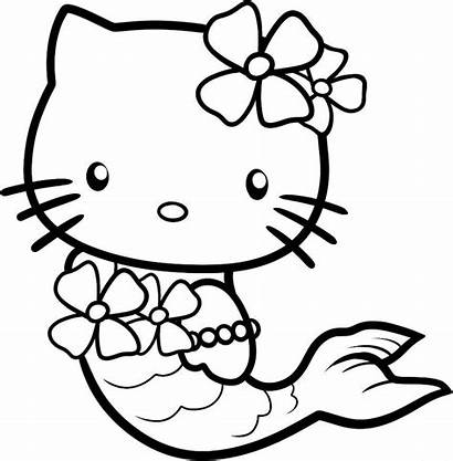 Kitty Hello Coloring Pages Cool