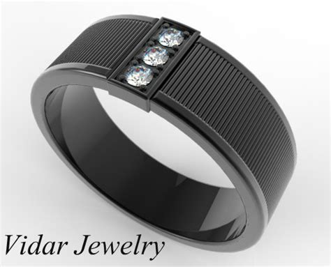 men s black gold diamond wedding band vidar jewelry unique custom engagement and wedding rings