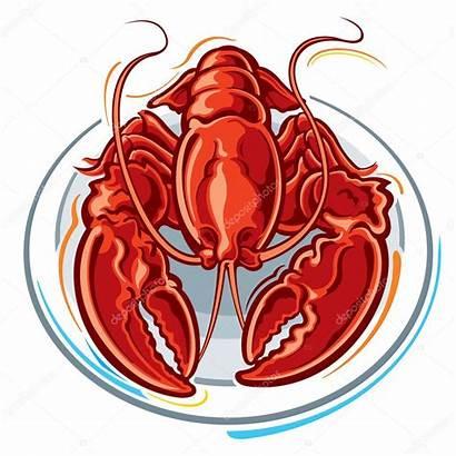 Lobster Illustration Vector Slipfloat Depositphotos