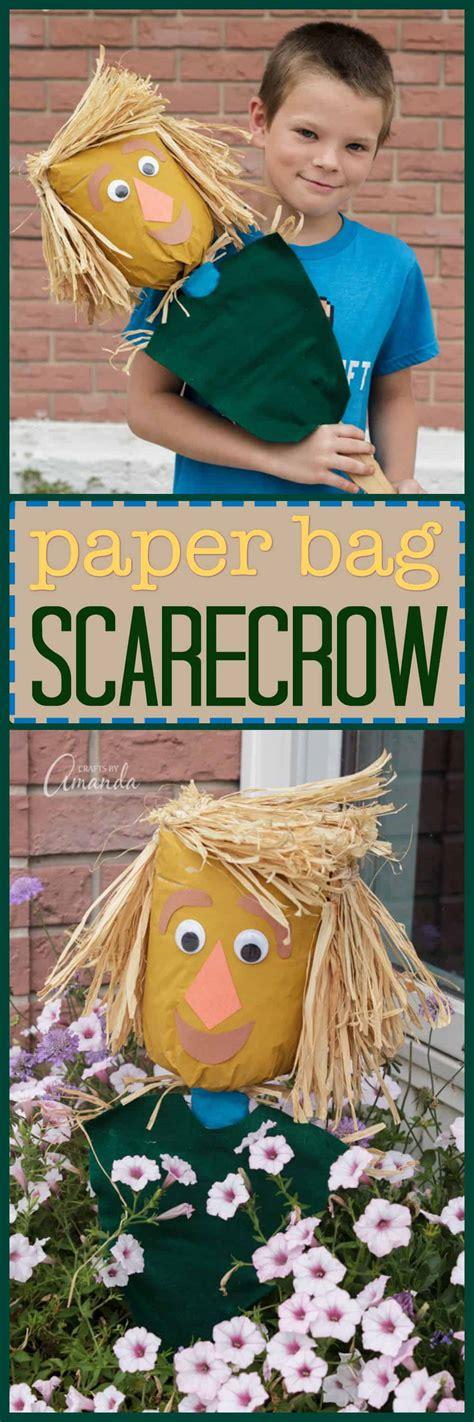 paper bag scarecrow  fun kids scarecrow craft  honor