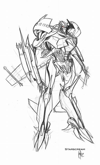 Starscream Transformers Prime Concept Wheeljack Coloring Pages