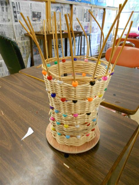 craft project completed basket weaving artmuse