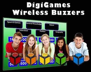 Wireless buzzer game show buzzers