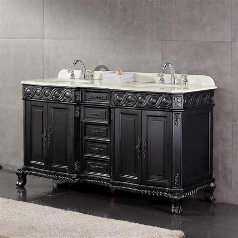 60 bathroom vanity double sink lowes shop ove decors trent antique black undermount double sink