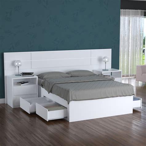 cama turca casal   gavetas  branco foscarini