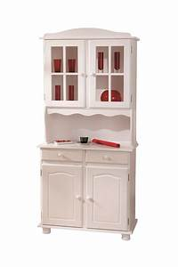 Vaisselier Pin Massif : valencia bahut vaisselier en pin massif teint blanc meubles de rangement buffet vaisselier ~ Teatrodelosmanantiales.com Idées de Décoration